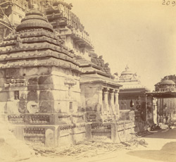 Minor temples at south side of Jagannatha Temple complex, Puri